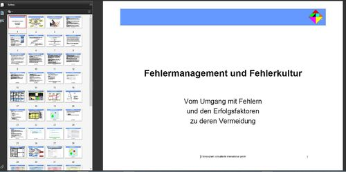 Präsention Fehlermanagement & -kultur