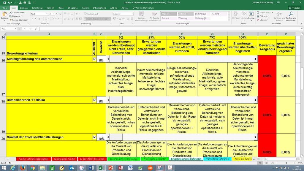 kunden lieferantenbewertung - Lieferantenbewertung Muster
